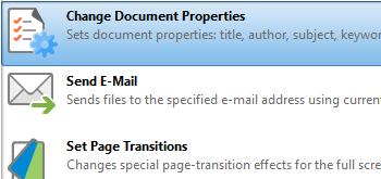 Change Document Properties