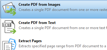 Create PDF Documents from Images