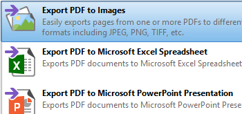 Export PDF Files to Different Formats and/or Extract Images