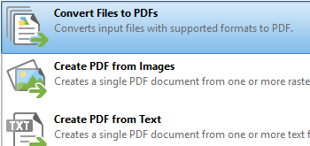 Convert Files to PDF
