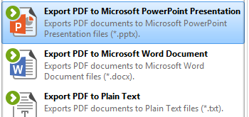 Export PDF to Microsoft Powerpoint Presentation