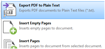 Export Documents to Plain Text Format