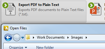 Export PDF to Plain Text Format