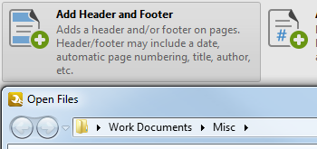 Add/Remove Headers and Footers