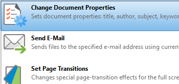 Change Document Properties