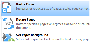 Resize Pages