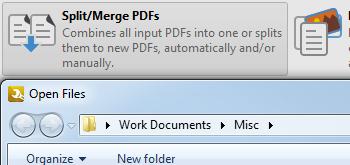 Split/Merge PDF Files