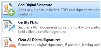 Add Digital Signatures