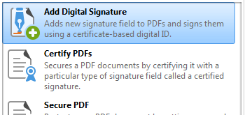 Add/Remove Digital Signatures