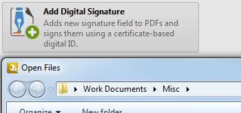 Add/Remove Digital Signatures