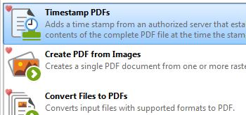 Timestamp PDFs