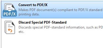 Convert to PDF/X