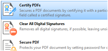 Certify PDFs