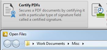 Certify PDF Files